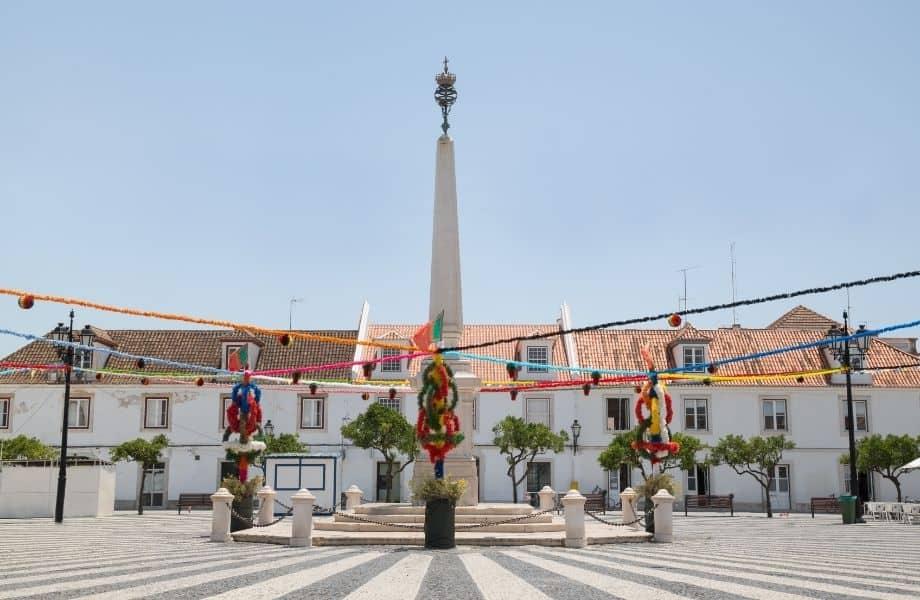 algarve activities and attractions, Vila Real de Santo António centro prepared for a festival