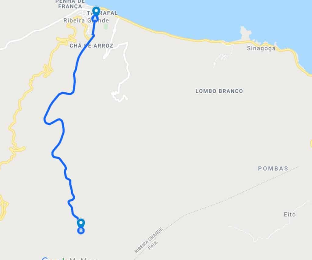 hiking to xoxo village santo antao map