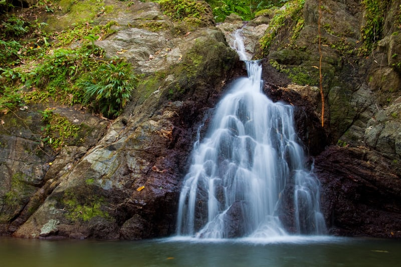 A small waterfall at Parlatuvier in Tobago