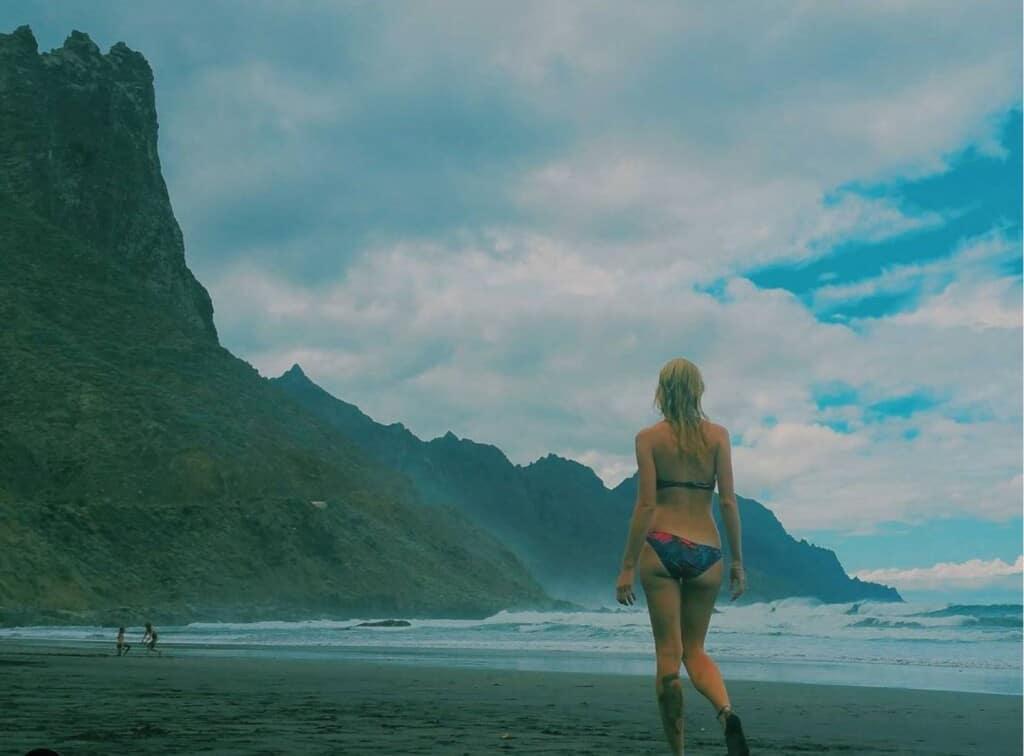 north tenerife beach paulina blogger, Visit Beaches of North Tenerife