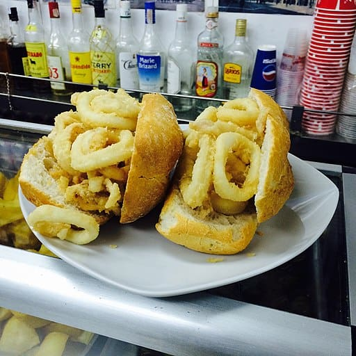 Bocadillo_calamares_plaza_mayor, calamares sandwich