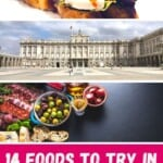 Are you wondering what to eat in Madrid? This Madrid food guide is about the best food to try in Madrid, Spain including Madrid food restaurants where you can enjoy tapas, paella and more. Are you looking for the ultimate Madrid food guide? Find a selection of the best food in Madrid incl. food markets in Madrid and the best restaurants in Madrid to enjoy typical dishes from Madrid. Best Madrid tapas incl.! #madrid #food #madridfood #madridrestaurants #spainfood #spanishfood #churros #streetfood