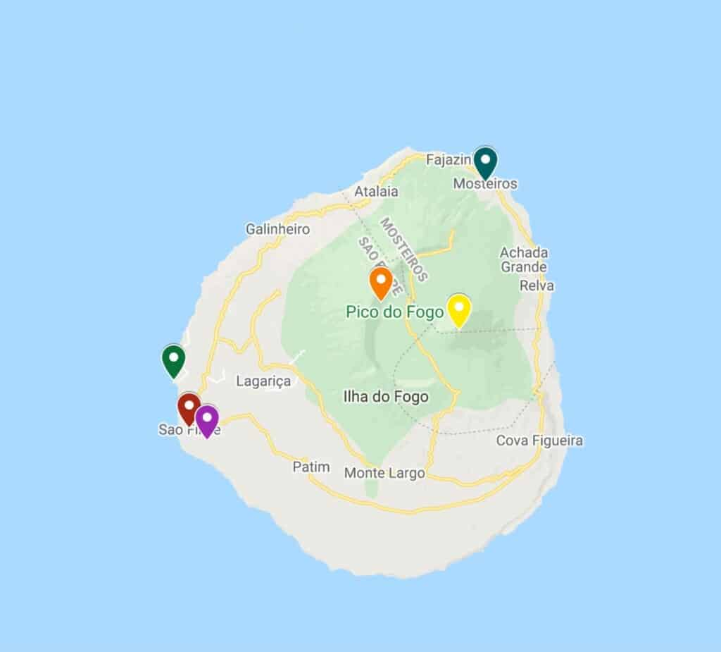 fogo island cape verde map
