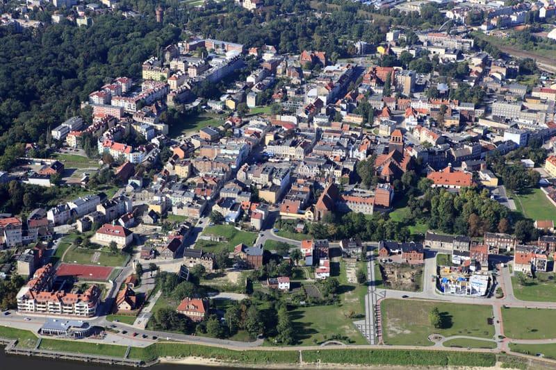 """""""Aerial view. Poland, Pomeranian province Tczew"""" poland"""