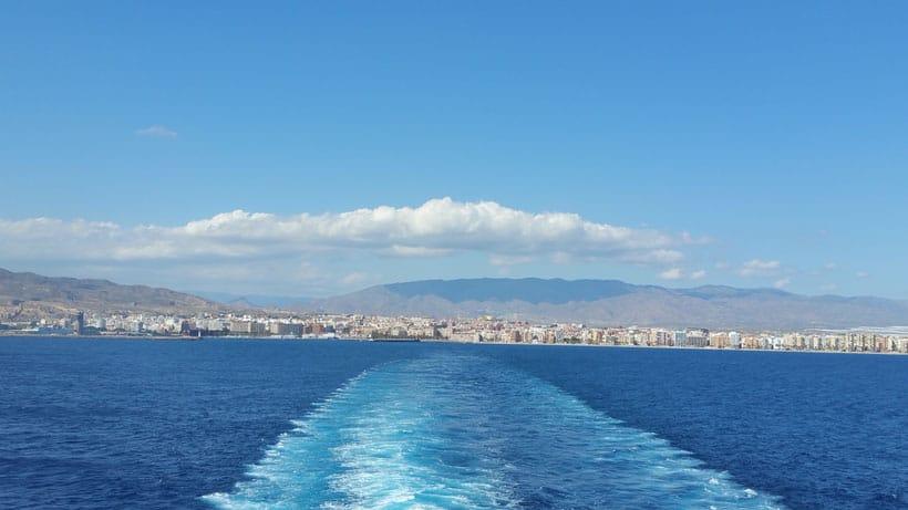 almeria, melilla, ferry, agua, mediterraneo, sea, cross, refugees, marroco