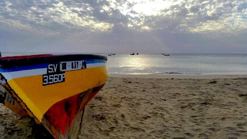 cabo verde, beach, boat, colors