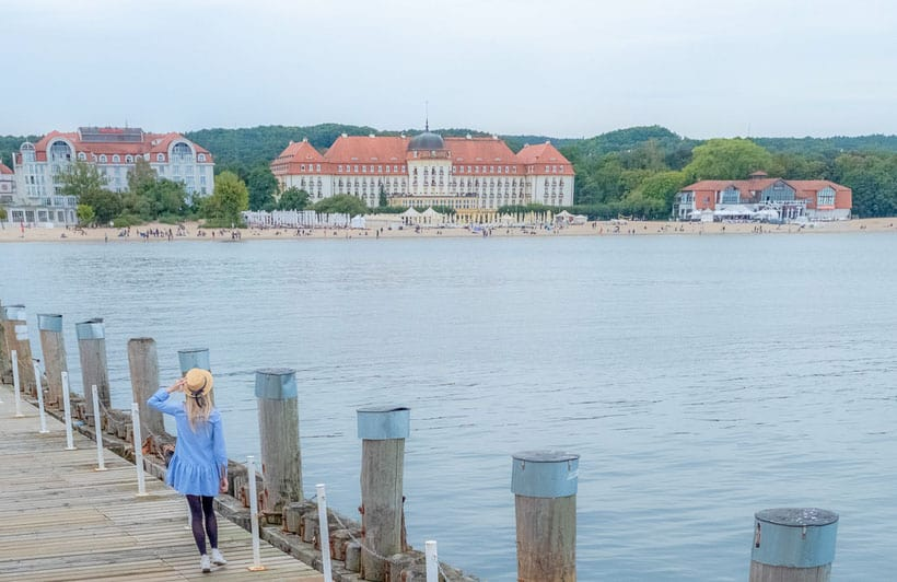 gdansk day trips, walking along sopot pier