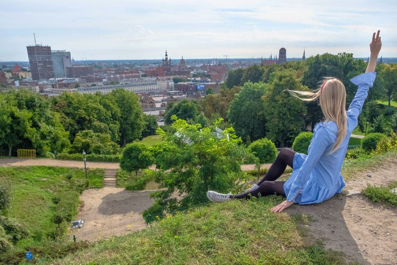 stunning viewpoints in gdansk, panoramic view from gradowa hill