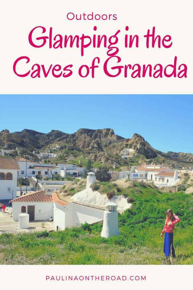 Glamping in Spain in the historic cave homes near Granada and Guadix. | Discover creative accommodation sites in Andalusia. | Camping in Spain | Traditional Andalusia | Day Trip from Granada #spain #granada #glamping