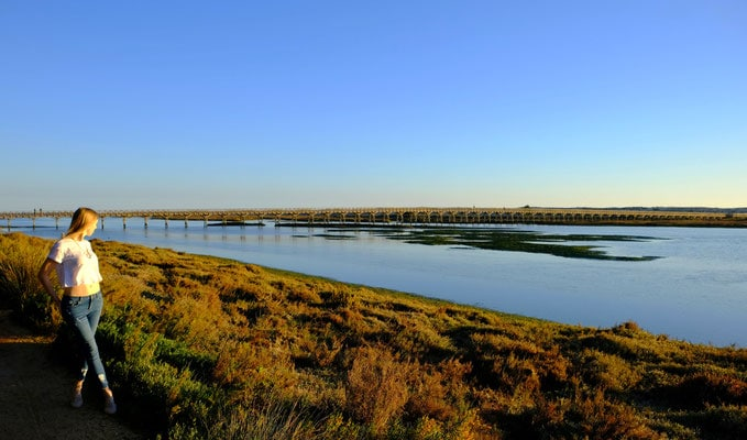 things to do in algarve in winter, looking out over Ria Formosa Nature Reserve