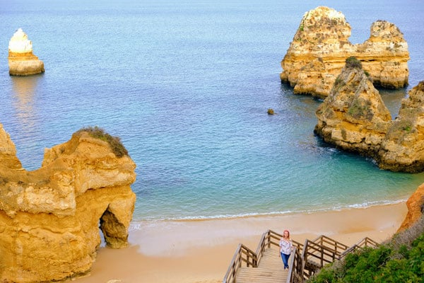 best things to do in winter in algarve, overlooking camilo beach rocks