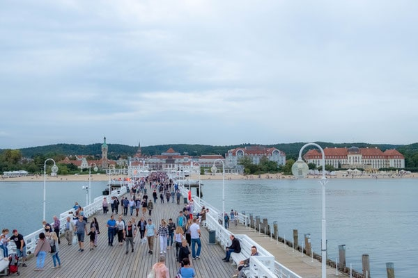 best day trips from gdansk, poland, walking along sopot pier