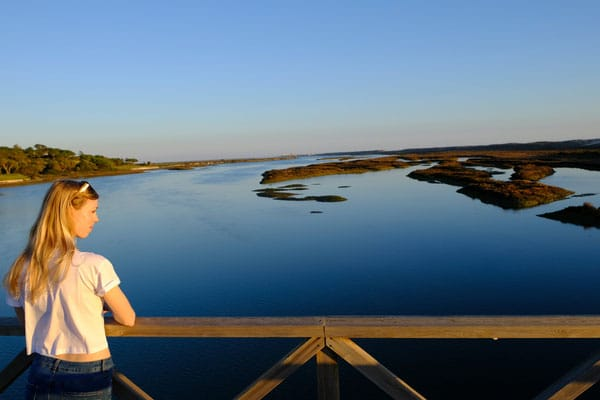 places to visit during winter in the algarve, overlooking the marshland in ria formosa
