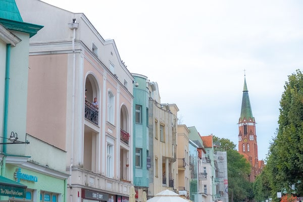things to do in east pomerania, colourful houses in sopot