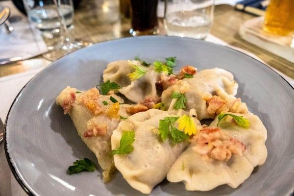 take a food tour of gdansk, tasty pierogis