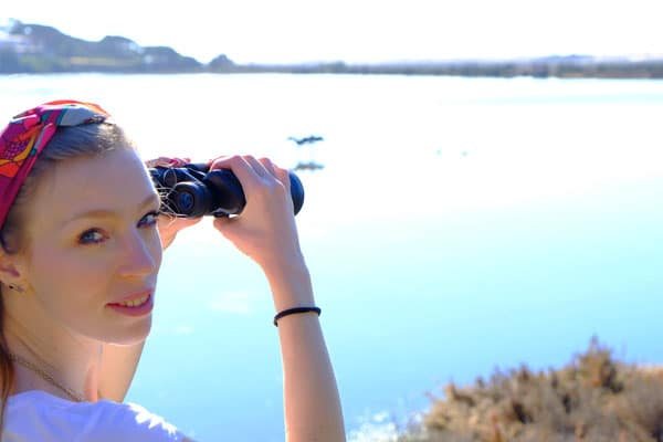 faro winter activities, birdwatching over a lake