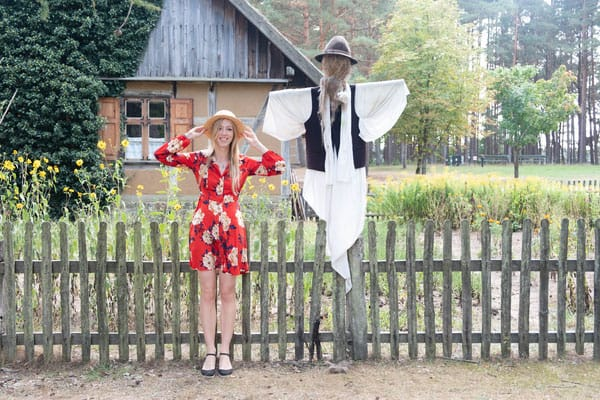 exploring the best places to visit near gdansk, making friends with a scarecrow