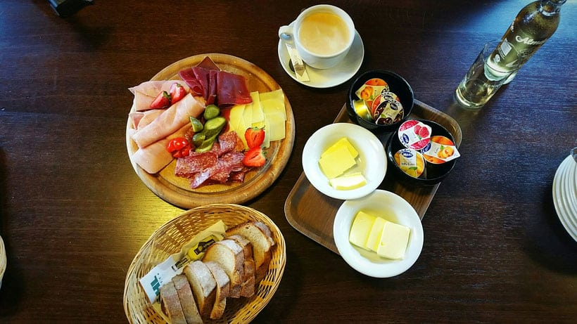 Things to do in Liechtenstein, a hearty breakfast spread