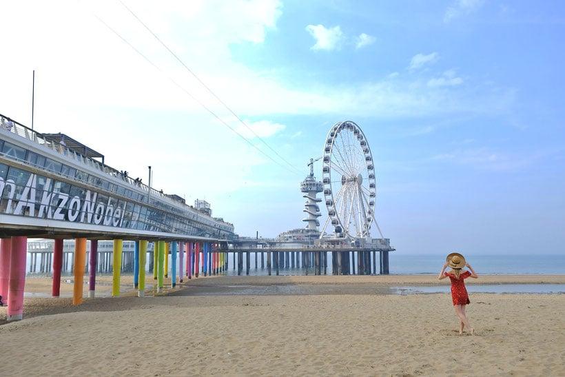 At the pier in Scheveningen, The Hague's beach resort, european cities close to luxembourg