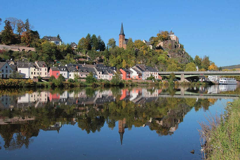 View on Saarburg places to visit around luxembourg, day trip in luxembourg