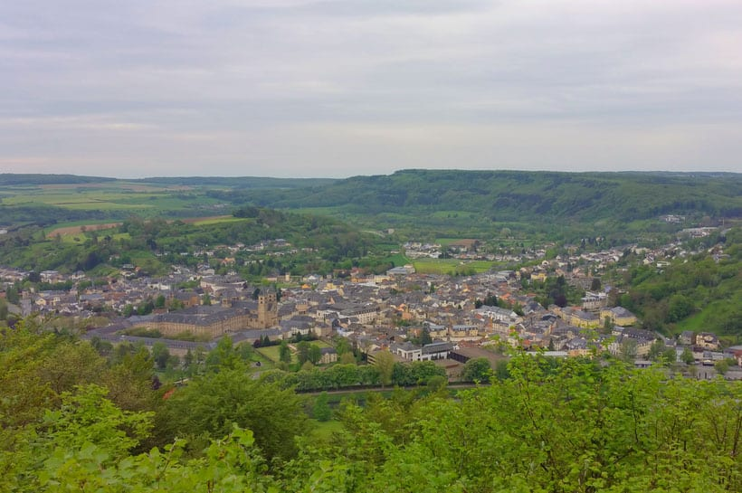 luxembourg excursions, Panorama View on Echternach