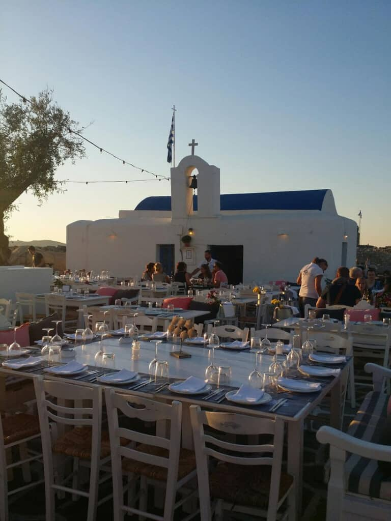 best things to do in paros, outside restaurant in naoussa