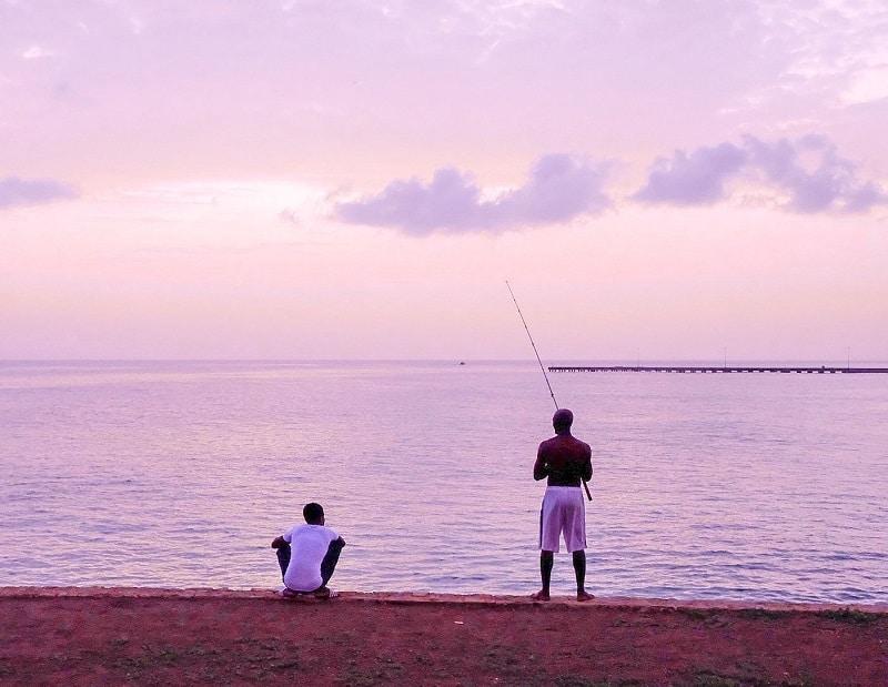 fishermen in maio island cabo verde