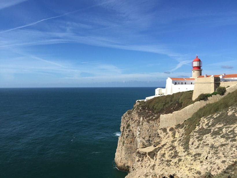 attractions in algarve, view of st vincent's lighthouse in sagres