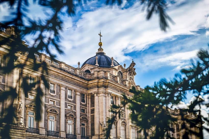 Royal Palace in Madrid. best location to stay in madrid, where to stay near madrid