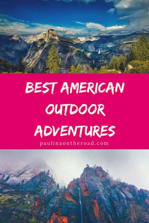 Ready to go on an adventure? Discover the best outdoor adventures in America, including Yosemite National Park, Kauai and many more. Outdoor adventures are the best to unwind. What is your favorite? #usa #outdoor #usatravel