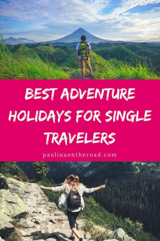 Discover the best adventure holidays for singles. Get inspiration for singles holidays including wine tours, climbing the Kilimanjaro, safaris, Europe trips and much more. Read more to find your perfect getaway for single travelers. #holidays #adventuretravel #outdoortravel
