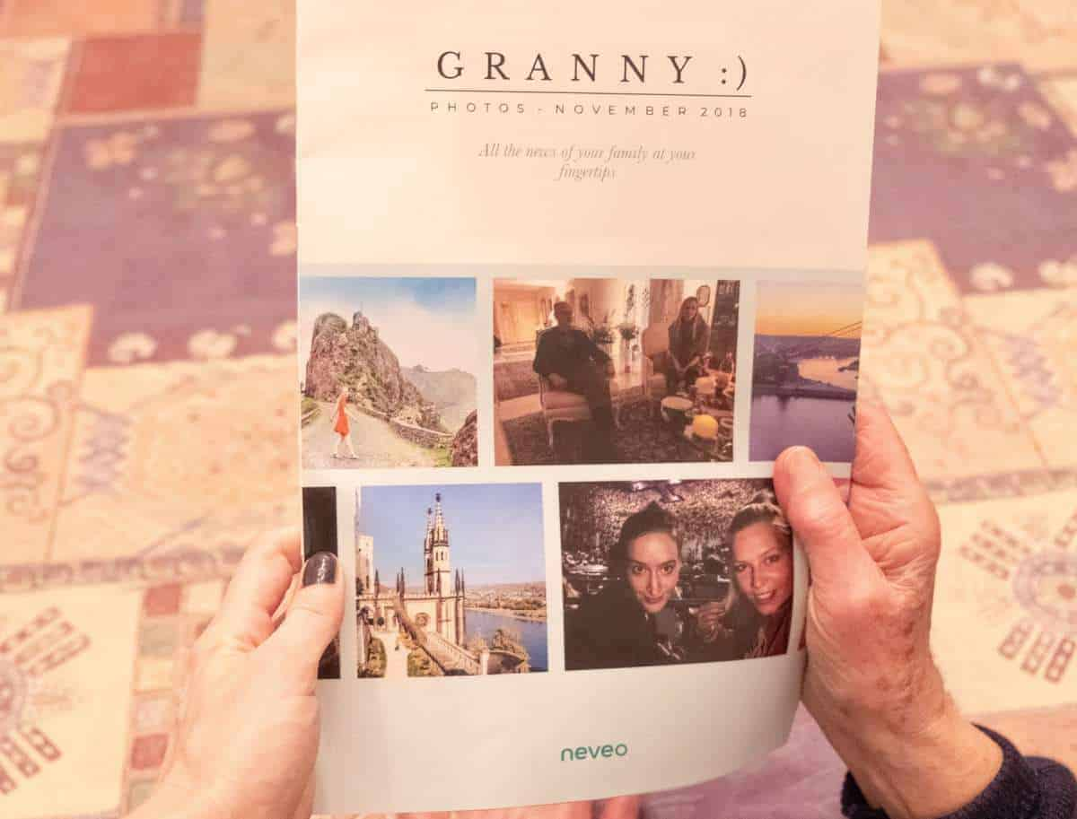 best gift for grandparents who live far away, long distance family, photo gift, creative gift, expat, grandparents that live aborad