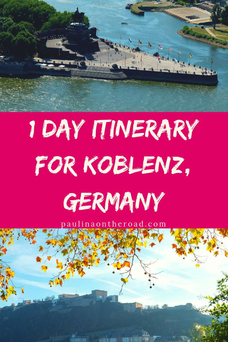 Fancy a city trip to a less known German town? Then you'll love Koblenz and all its attractions. Read in this itinerary about where to stay in Koblenz and what to see in Koblenz including its castle, rhine cruises and restaurant suggestions. Let's discover a new German city on the Rhine together. #koblenz #germany #whattodoinkoblenz #germantravel #visitgermany #rhinevallez #rhinecruise
