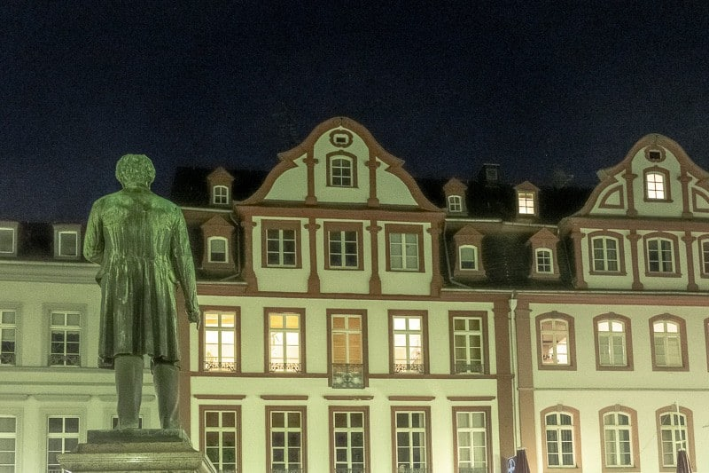 things to do in koblenz germany, view of jesuitenplatz at night