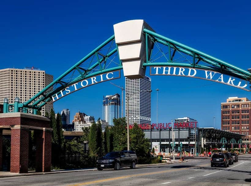 The entrance of the Historic Third Ward