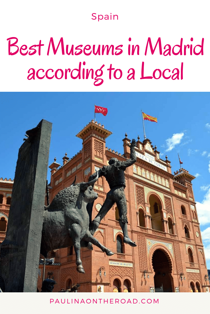 Best Museums in Madrid according to a local! After living in Madrid, Spain for many years, I want to share with you the top museums in Madrid incl. Prado, Reina Sofia or the Bullring. Be ready to explore also some less known art galleries in Madrid. #spain #madrid #museumsinmadrid