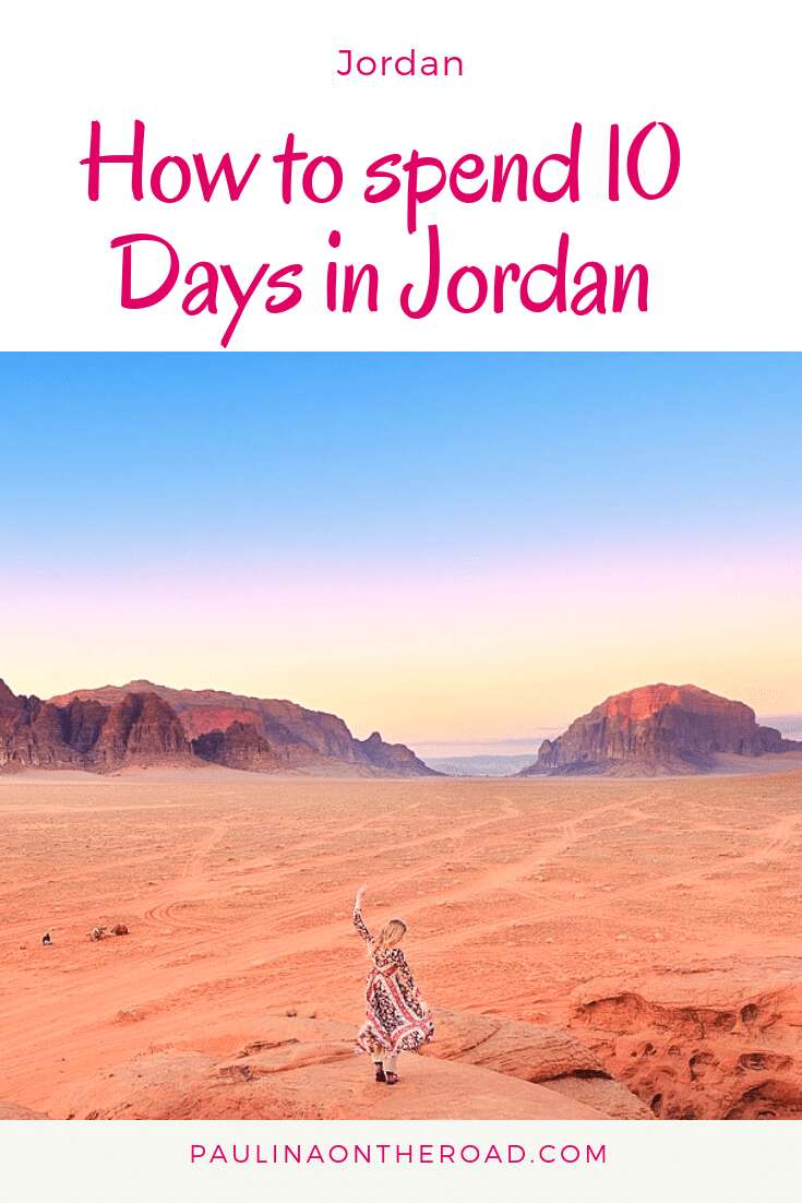 How to spend 10 Day in Jordan? Discover the ultimate 10 Day Itinerary Jordan including Petra, Amman, Jerash, Dead Sea, Aqaba and Wadi Rum Desert. Get useful travel tips and where to stay in Jordan, hotels in Dead Sea and spa resorts. Let's hit the road to Jordan! #jordan #travelitinerary #middleeast #petrajordan