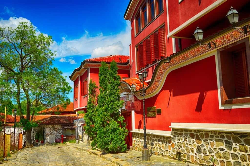 what to do in plovdiv, street in plovdiv bulgaria, travel tips, revival house