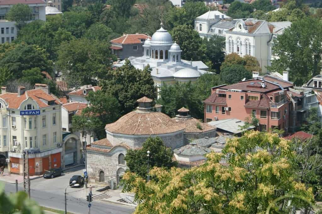 church in plovdiv bulgaria from hill