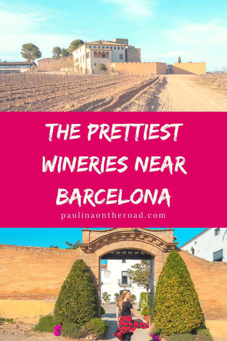 Let's go on a Day Trip from Barcelona and visit the best wineries near Barcelona. A wine tour from Barcelona is the best way to learn about wine and cava wine making. #barcelonadaytrips #winetourbarcelona #cavawine