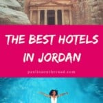 With this Guide on Where To Stay in Jordan you'll find the best hotels in Jordan according to your travel plans. Whether your planning for beach holidays, spa resorts at Dead Sea, or diving in Aqaba. Find accommodation in Petra and luxury camps in Wadi Rum. #jordan #middleeast #wheretostay #besthotels