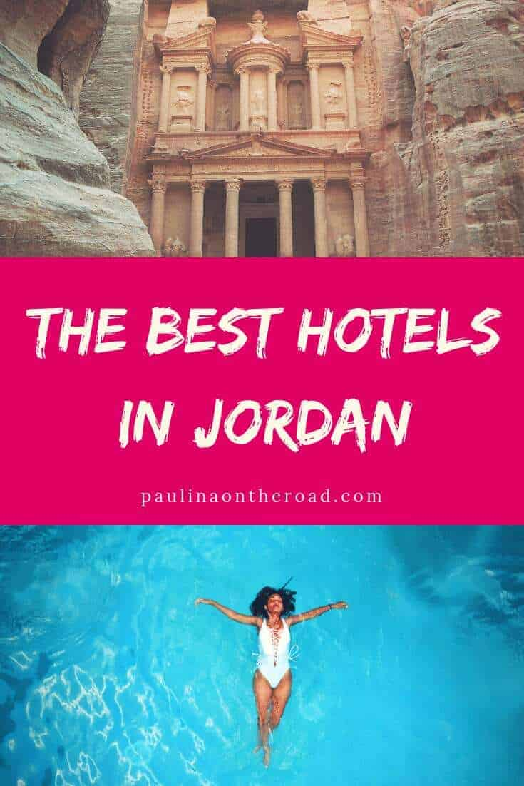 With this Guide on Where To Stay in Jordan you'll find the best hotels in Jordan according to your travel plans. Whether you're planning for beach holidays, spa resorts at Dead Sea, or diving in Aqaba. Find accommodation in Petra and luxury camps in Wadi Rum. #jordan #middleeast #wheretostay #besthotels