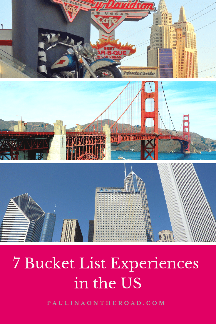 Discover the top US Bucket List Experiences in the US. There are a few things you cannot miss when traveling to the United States. How many things have you seen on this list? #usa #usatravel #bucketlist #travel