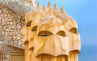 most famous buildings in barcelona, architecture, antoni gaudi, sagrada familia, casa mila, casa batllo, tibidabo, parc guell