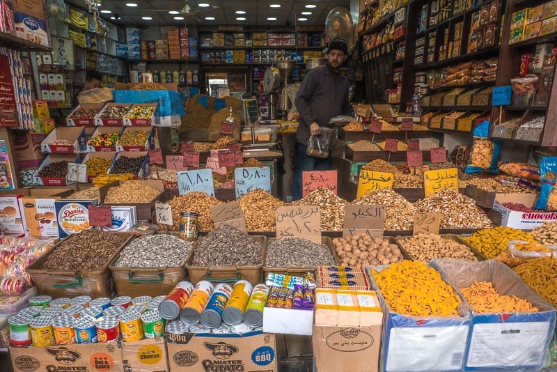 What to do in Jordan Amman, spices and other goods for sale at a spice shop
