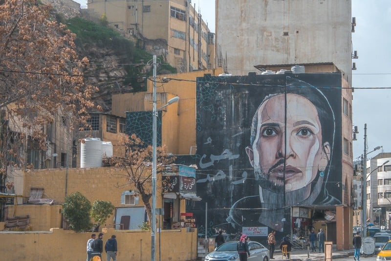 best things to do in amman jordan, street art in jabal amman