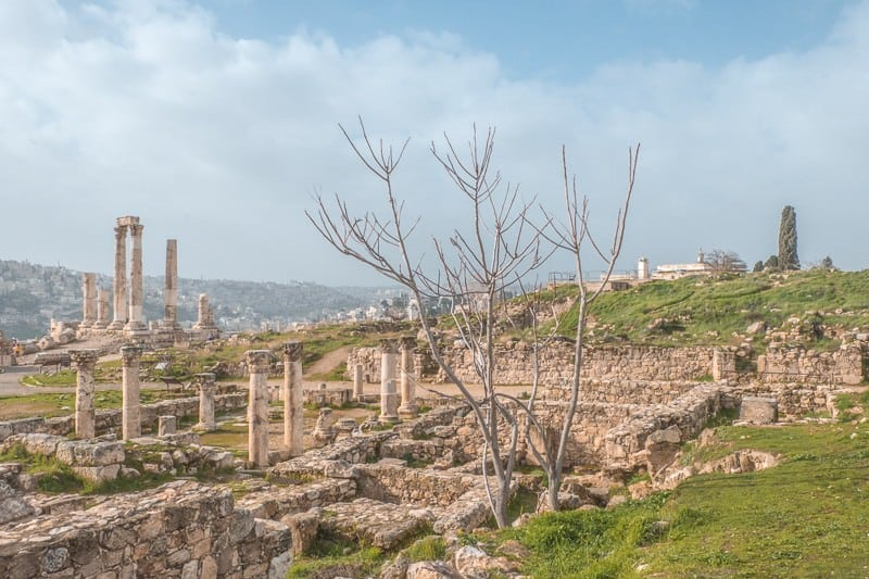 things to do in Amman, view of roman ruins in Amman, Jordan