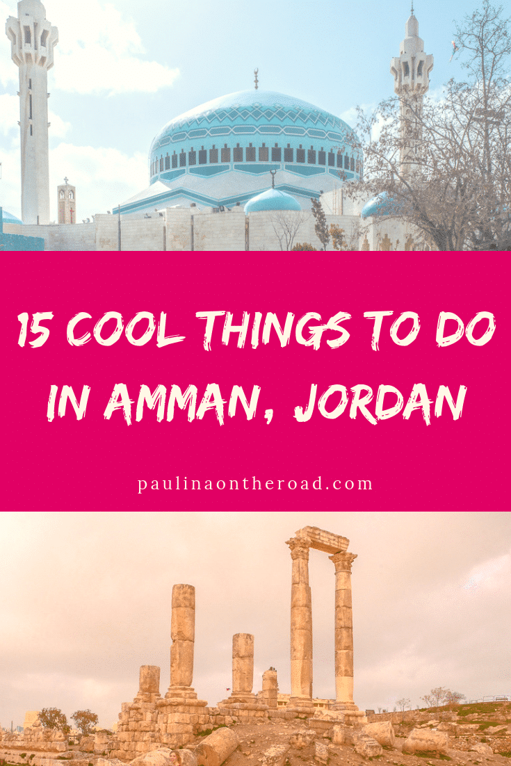 Discover the coolest things to do in Amman, Jordan. This in-depth guide includes where to eat in Amman, where to stay and attractions in Amman downtown. All the things to see can be included in a walking tour. Read on to find out where to have the best falafel and best hummus in Jordan. #jordan #amman #middleeast