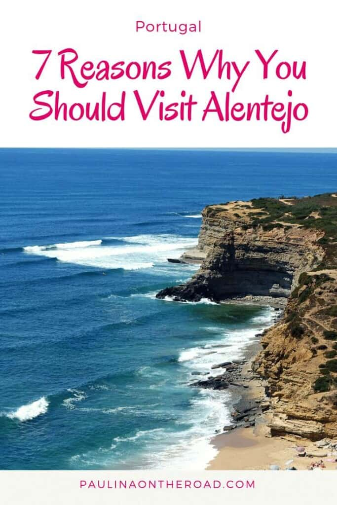 Why Should you visit Alentejo, Portugal? Read 7 reasons why Alentejo is the perfect day trip from Lisbon and why it holds the most authentic Portugal experience. Learn about Alentejo wine, great hikes and white villages in Portugal. Let's explore this hidden gem. #portugal #alentejo #daytrip #lisbon #lisboa #alentejocoast #beaches #hiking #europe #nature