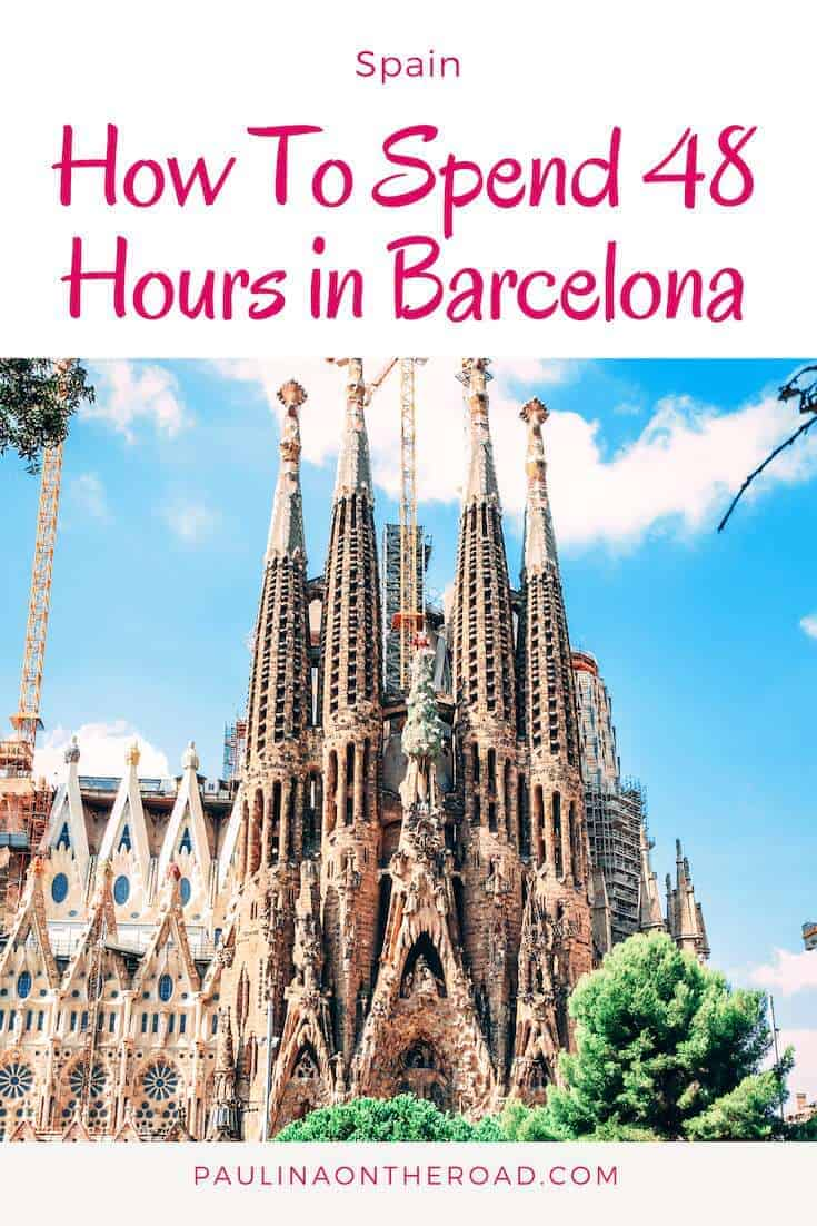 Do you have 48 Hours in Barcelona? This Barcelona Travel Guide will provide you the information on the things to see in Barcelona in 48 hours In Barcelona, Spain incl. Sagrada Familia, Gaudi Architecture and Tapas. #spain #barcelona #gaudiarchitecture
